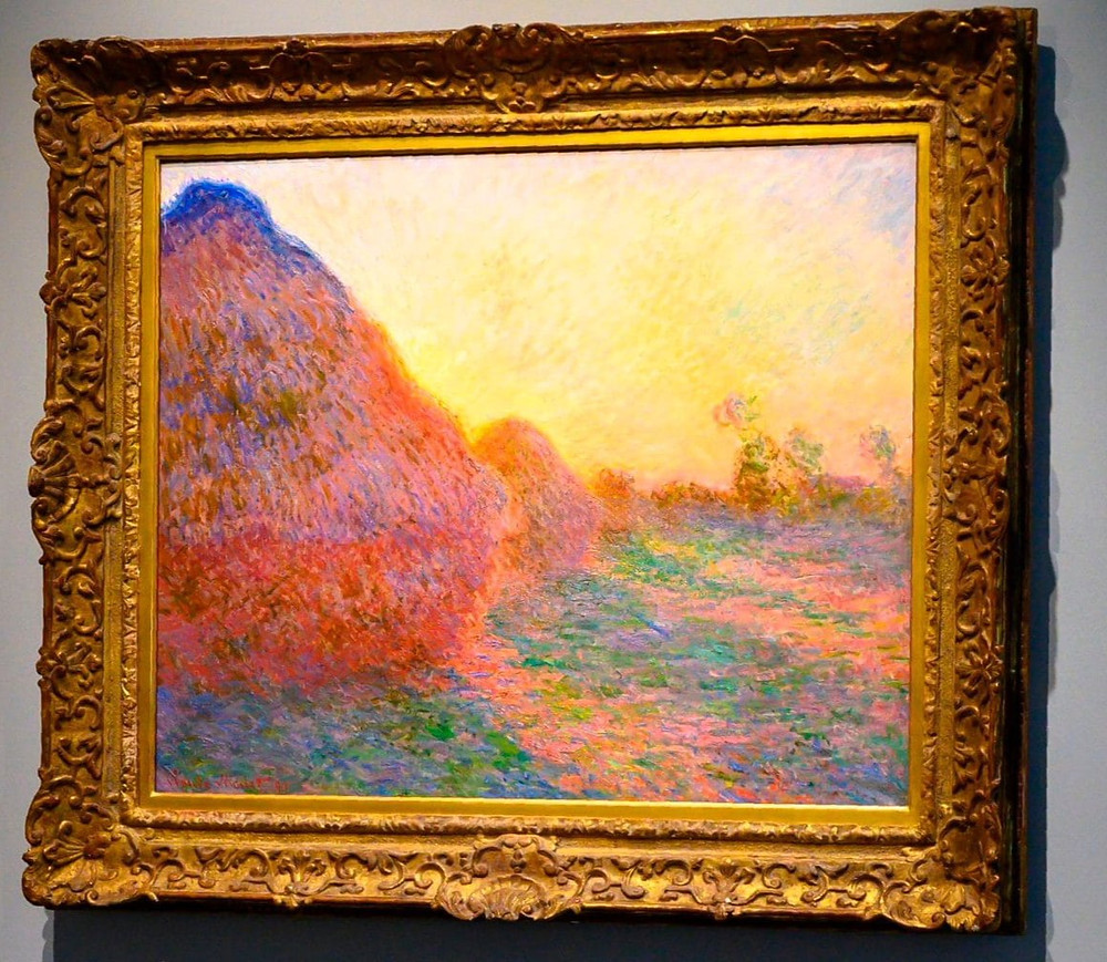 Monet painting of haystacks