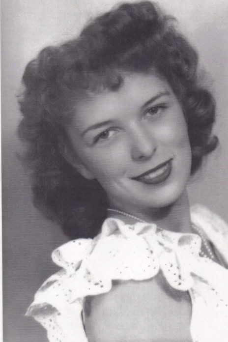 Black and white photo of a woman from the 1940's