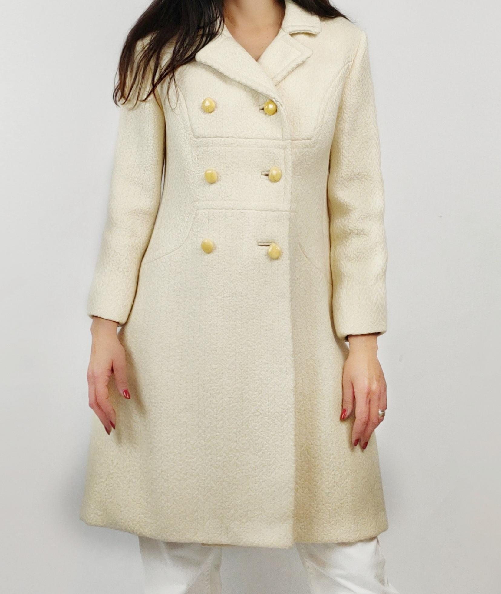 cream white coat