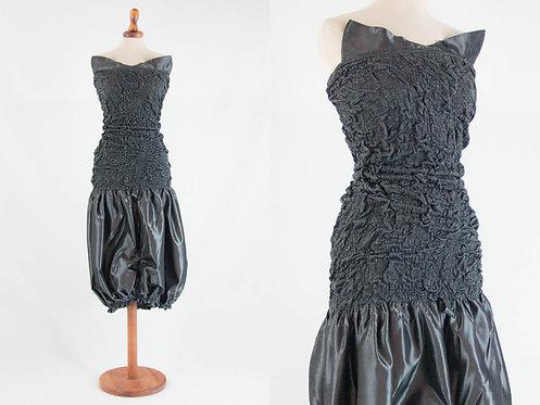 80s cocktail pouf dress by Hunza