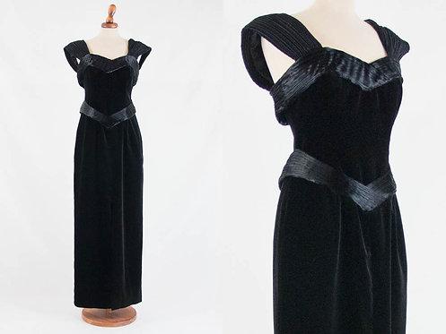 Laura Ashley velvet vintage dress