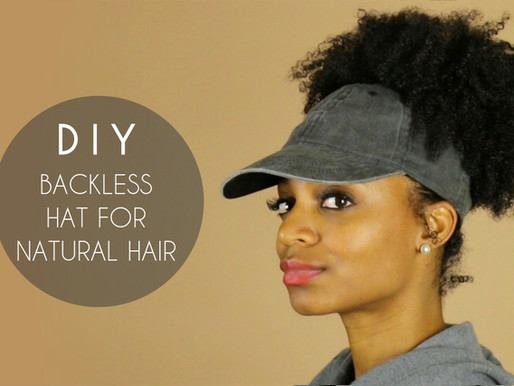 DIY Backless Satin-Lined Hat for Natural Hair