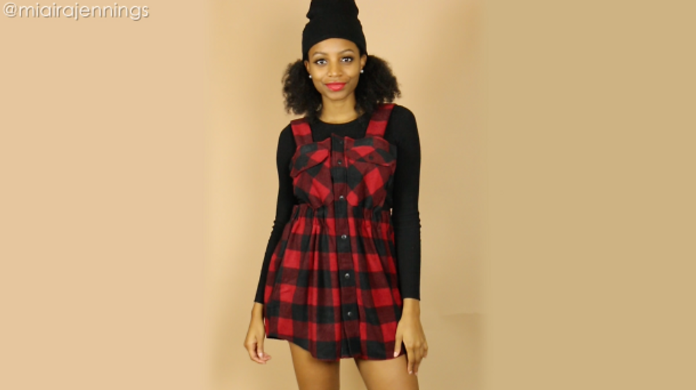 diy overall dress outfit no sewing