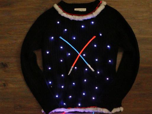 DIY Light-Up Star Wars Christmas Sweater – eHow Tutorial