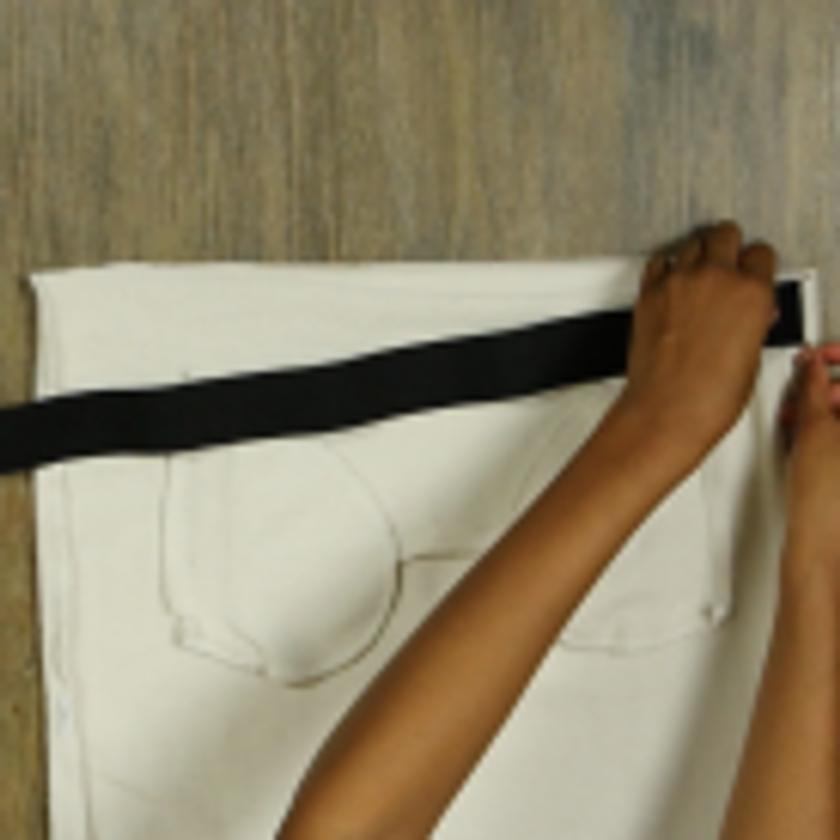 DIY Crop Top Hoodie and Skirt Set No Sewing – Step 3