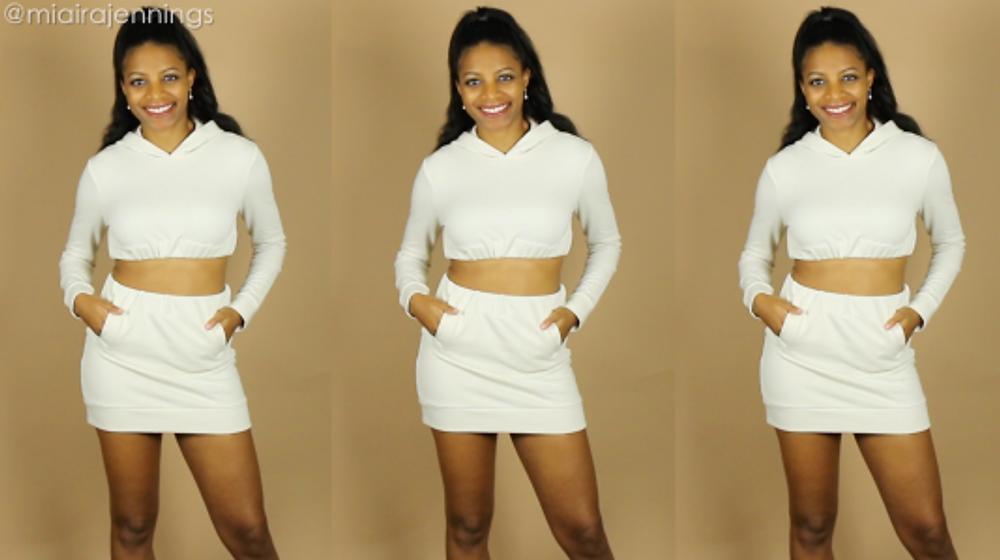 DIY Hoodie Crop Top Skirt