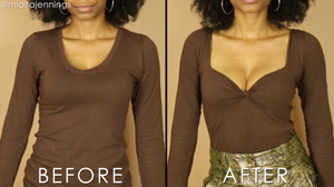 diy sweetheart top square neckline