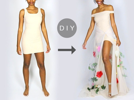 How to Make a Stunning DIY Flower Gown Out of $10 Shapewear