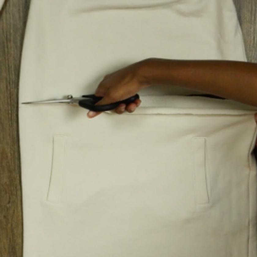 DIY Crop Top Hoodie and Skirt Set No Sewing – Step 2-3