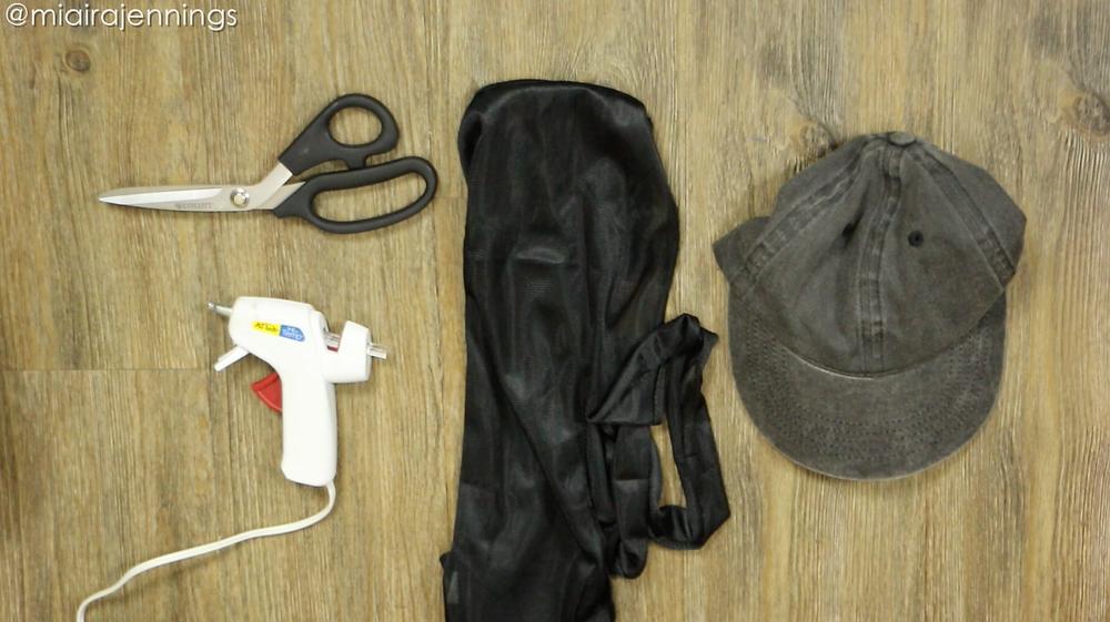DIY Backless Hat Natural Hair Materials