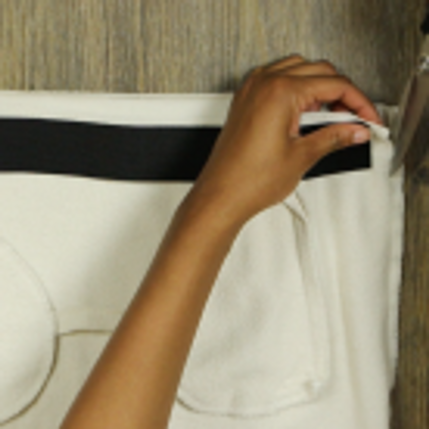 DIY Crop Top Hoodie and Skirt Set No Sewing – Step 3-2