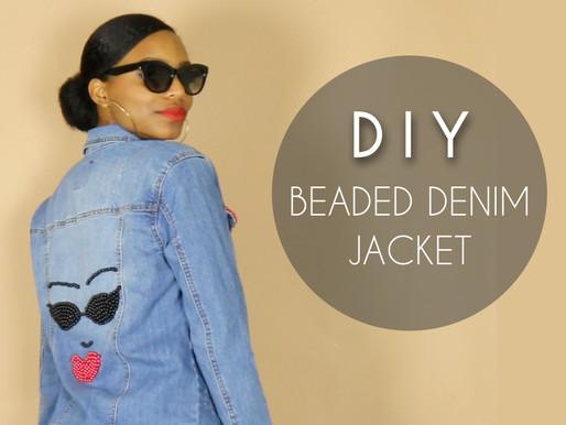DIY Beaded Denim Jacket (NO SEWING)