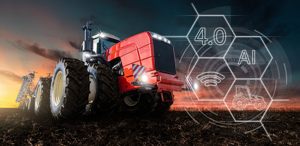 Autonomous tractor with artificial intel