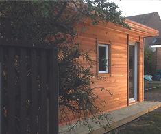 Bespoke Crusoe Cabin with one glass door - home office