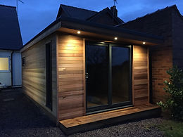 Crusoe Contemporary with extra storage built in and accessible from the outside - Home office
