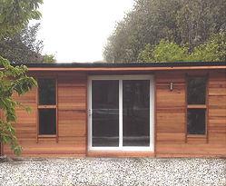 Large bespoke Crusoe Cabin with added window - home office
