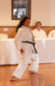 Louisiana Karate Association instructor teach body movement and promote fitness.