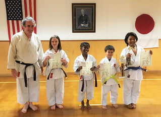 LKA's karate kids work hard to earn rank