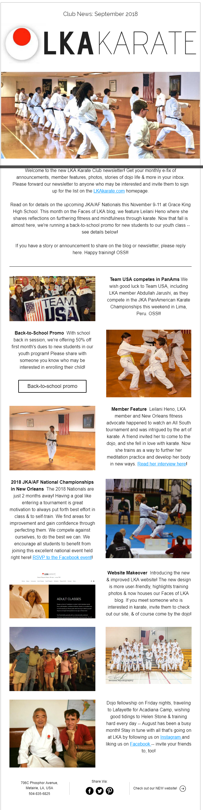 Louisiana Karate Club shares Shotokan news & events in Metairie.
