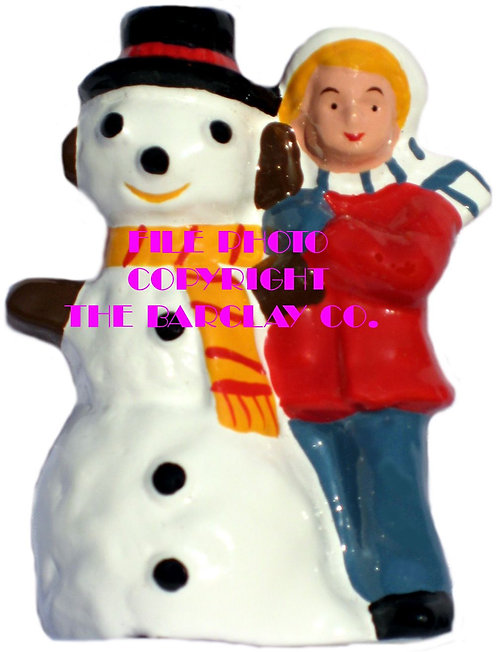 #4149 - Boy Building Snowman