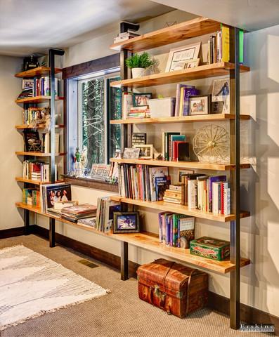 Metal and Alder shelves