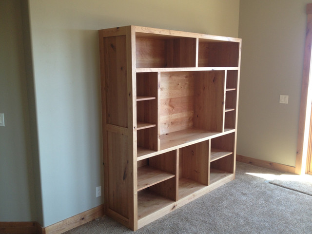 Entertainment center made with Alder.