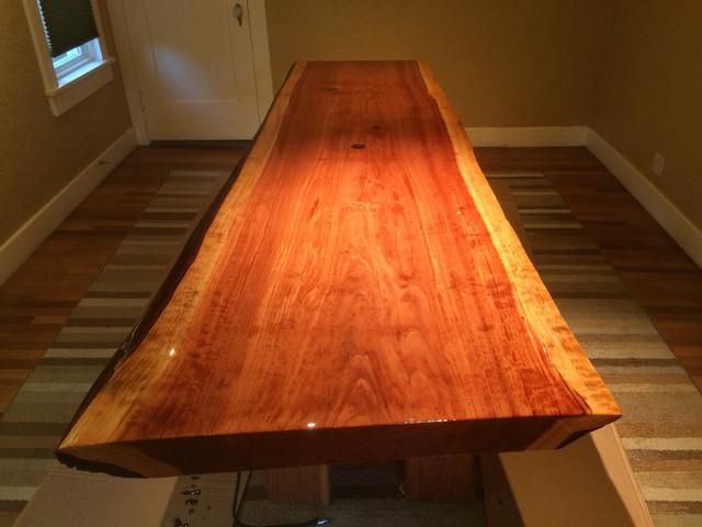 Live-Edge Redwood table