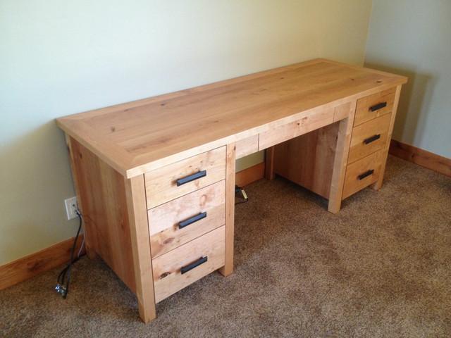 Desk made with Alder.