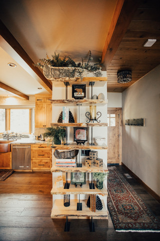 Live-Edge Pine shelves