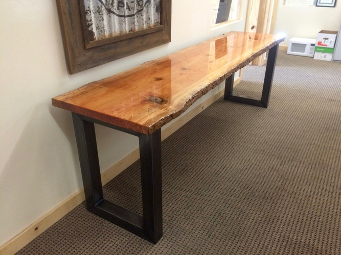 Live-Edge Douglas Fir table