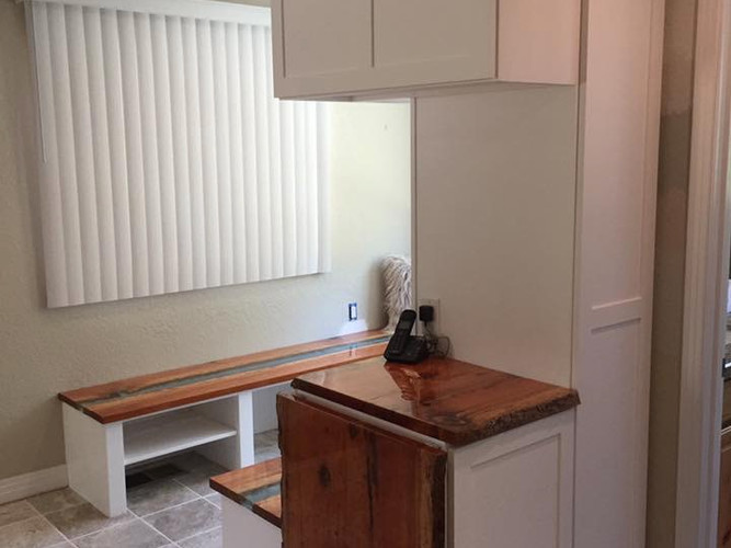 cabinets with foldable laundry table