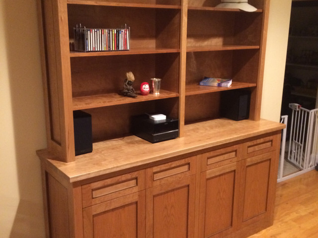 Hutch made with Cherry and Walnut accent.