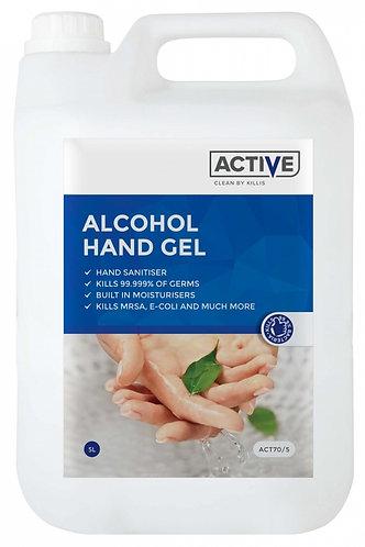 ACTIVE Alcohol Hand Gel with Moisturiser 5 Litre