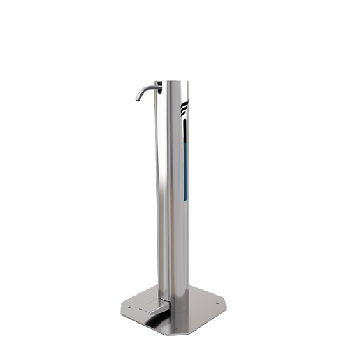 Pedal Foot-Operated Hand Sanitiser Station Bollard