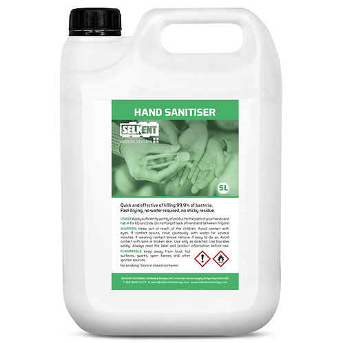 70% Alcohol Hand Sanitiser 5L