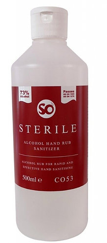 SO-Sterile 500ml 73% Alcohol Hand Sanitizer