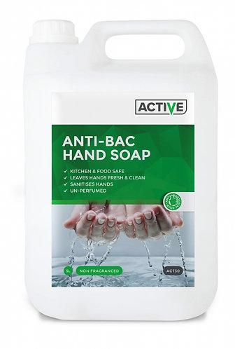 ACTIVE Hand Soap Anti Bac Non-Perfumed 5 Litre
