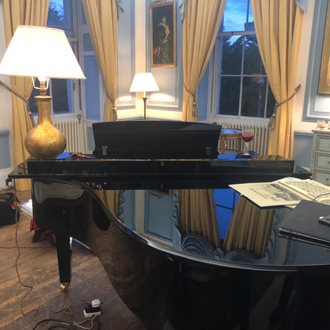 Yamaha C3 grand piano moved and fully installed.