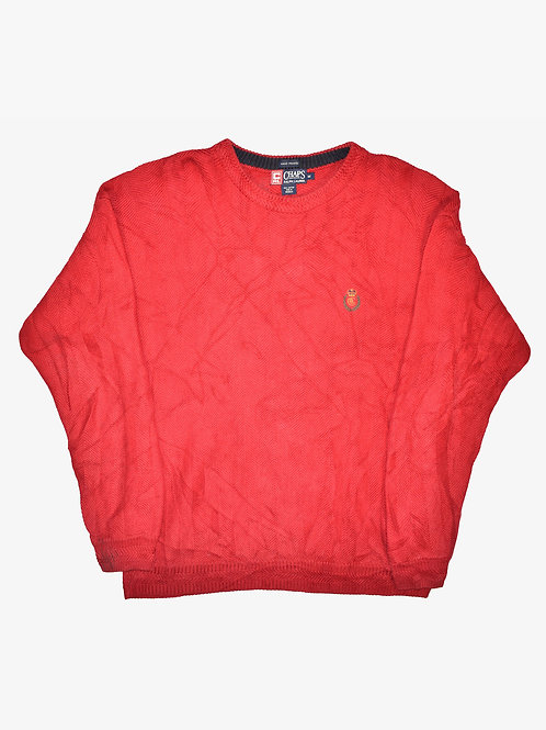 Chaps Ralph Lauren Hand Framed Crown & Wreath Red Sweater (M)