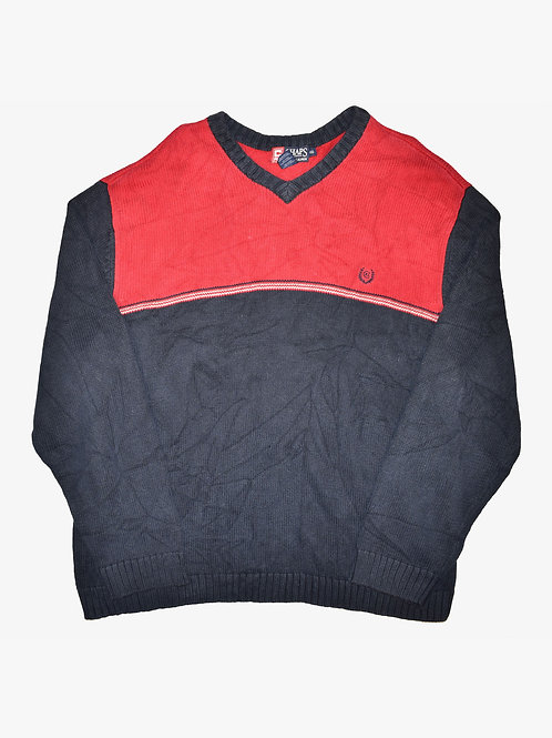 Chaps Ralph Lauren Red/Navy Sweater (XL)