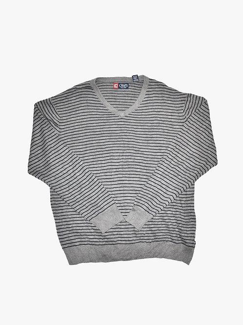 Chaps Striped Sweater (L)