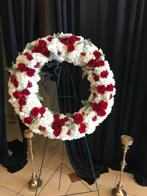 Wreath Standing On Easel