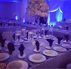 linens and charger plates