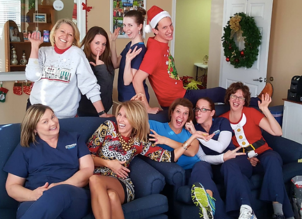 Blue Stone Hills Dentistry staff at Christmas time