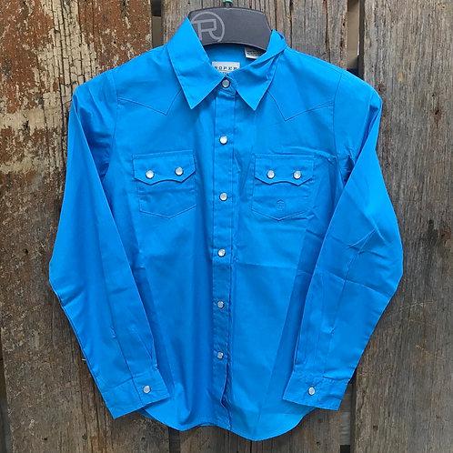 Boys Roper Button Up - blue