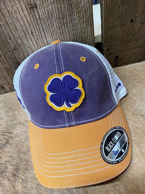 LSU Purple Black Clover Snap Back