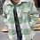 Thumbnail: Soft Button Down Mint Plaid Shirt Jacket