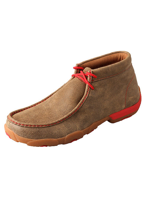 Men's Driving Moccasin – Bomber/Red