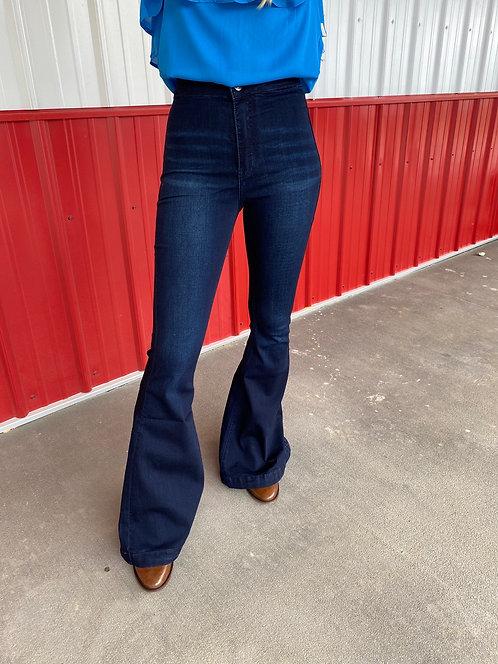 KanCan - High Rise Bell Bottom Jeans - KC6247ND