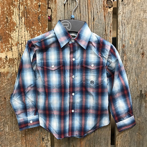Boys Roper Button up - plaid/ blue/ red